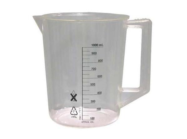 Plastikinis graduotas 1000 ml matavimo indas