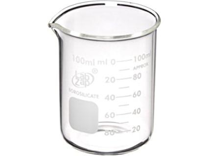 Stiklinis graduotas 100 ml matavimo indas