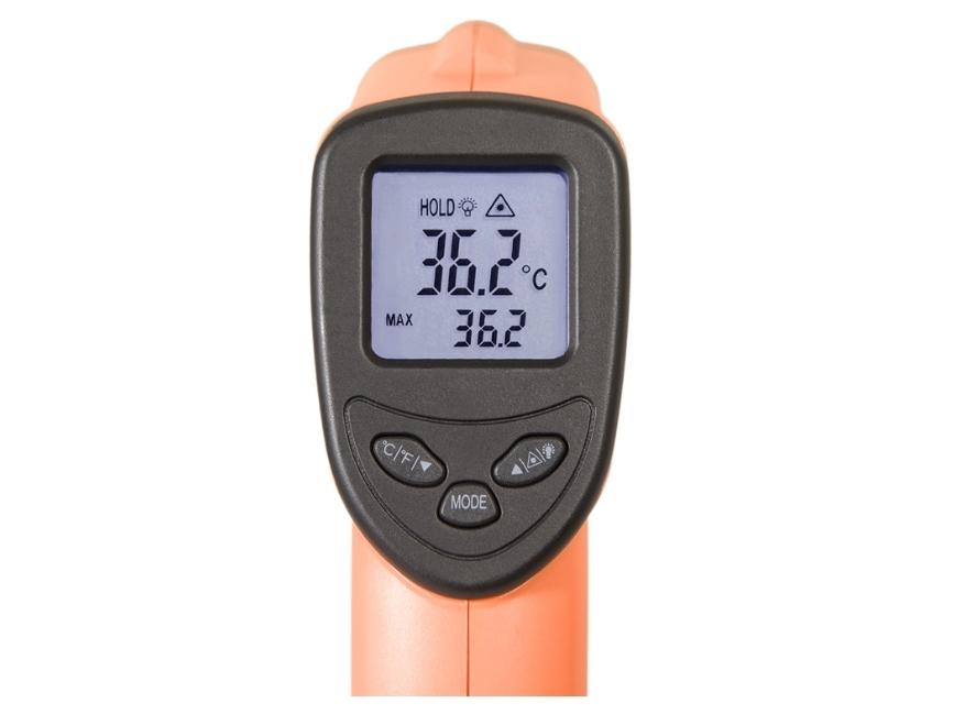 Infraraudonųjų spindulių termometras - pirometras DT8500H