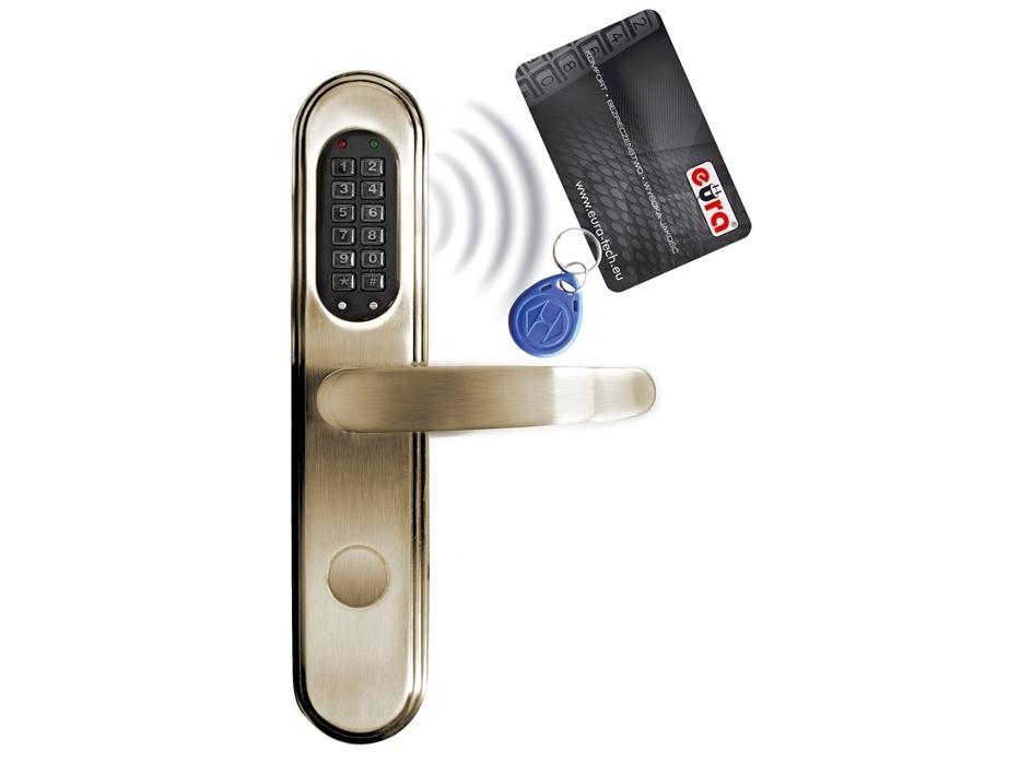 Elektromechaninė durų spyna su RF ID skaitytuvu ir kodo užraktu ELH-40B9/brass (valdymo dalis)