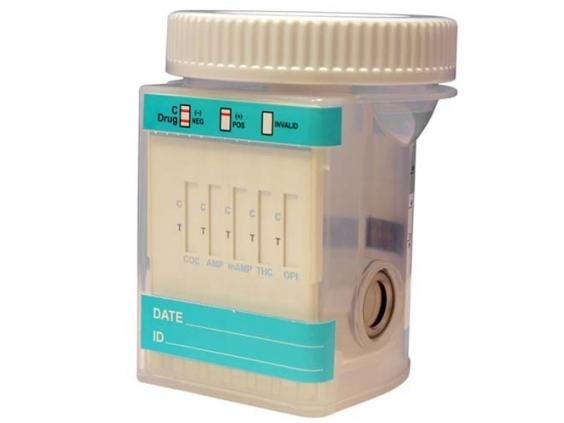 Mėginio indelis narkotikų testui, tiria 5 narkotikų rūšis (25 vnt.)