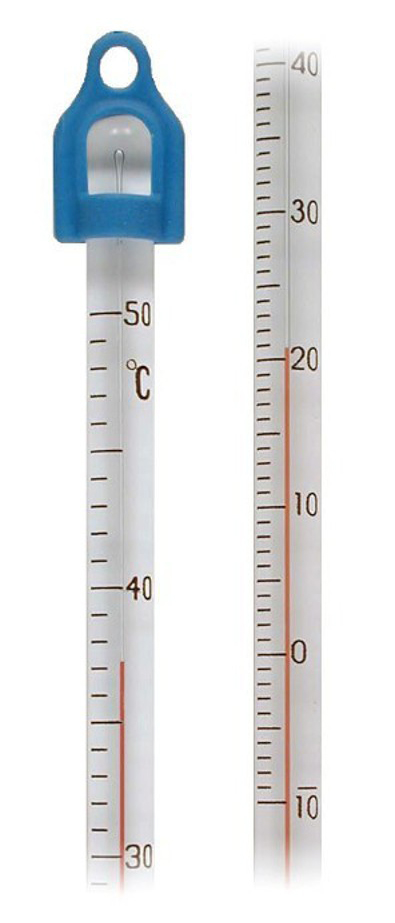 Dalinai panardinamas spiritinis laboratorinis termometras