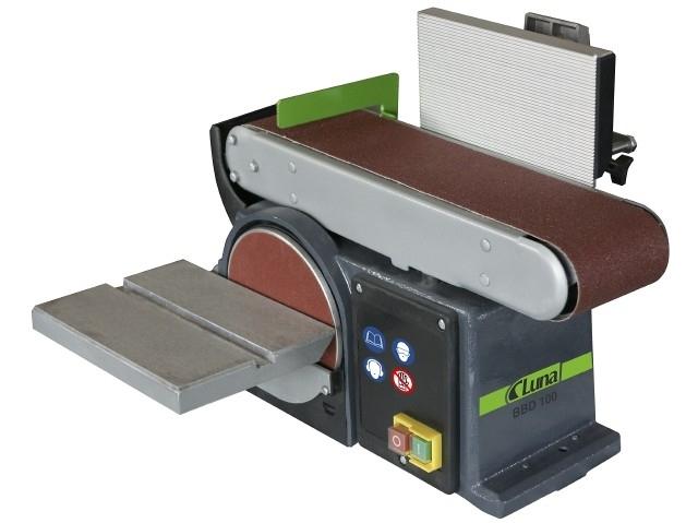 Juostinės-diskinės šlifavimo staklės su atlenkiama atrama Luna BBD 100