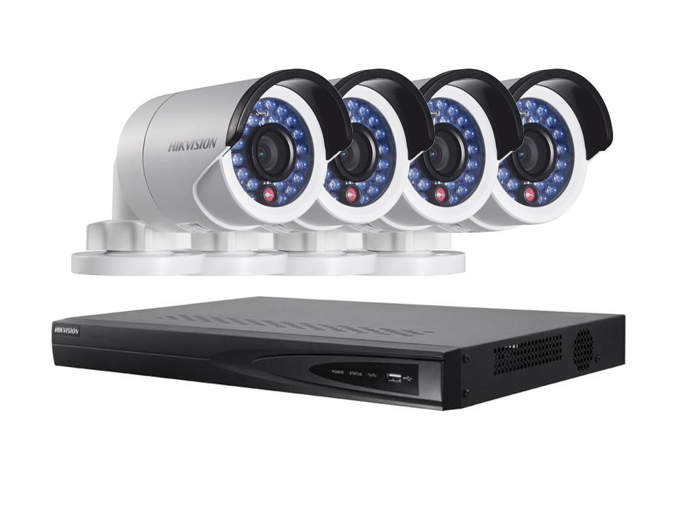 Lauko/vidaus stebėjimui skirtas komplektas su 4 kameromis Hikvision FRA-KOM-1