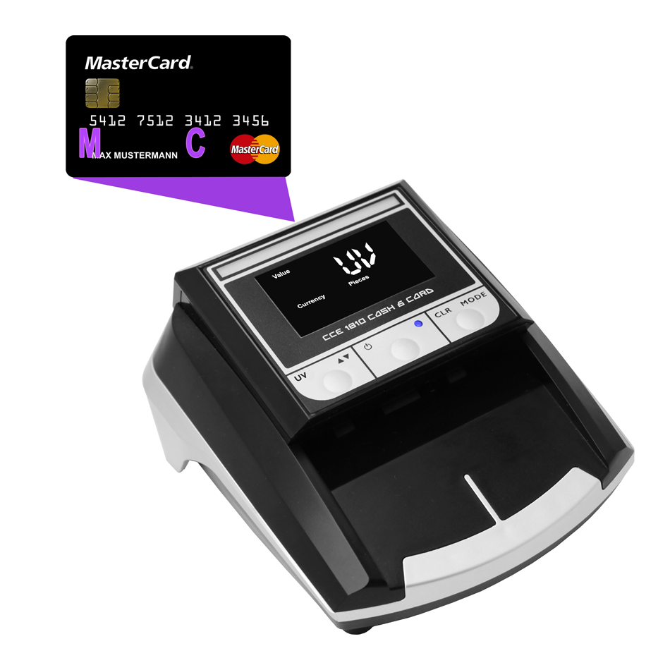 Banko kortelių ir pinigų tikrinimo aparatas CCE 1810