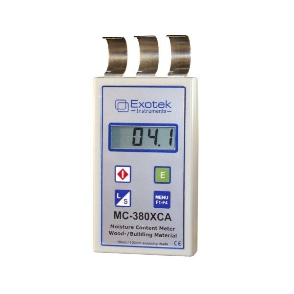 Medienos ir statybinių medžiagų drėgmės indikatoriaus (nepažeidžiantis objekto) Exotek MC-380XCA nuoma
