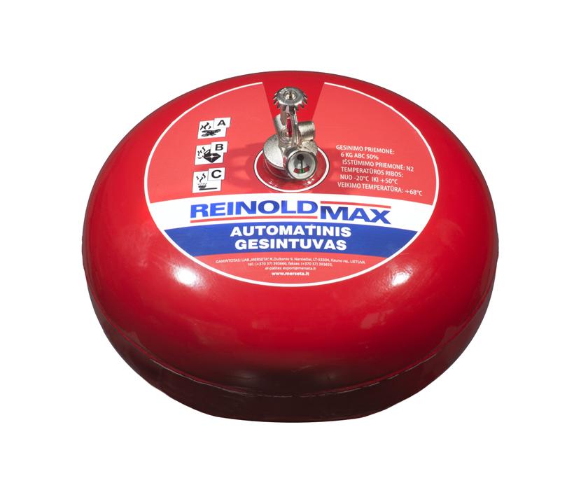 Pakabinamas automatinis miltelinis gesintuvas (6 kg)
