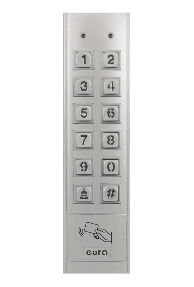 Durų kodinis užraktas su kortelių skaitytuvu EURA AC-14A1