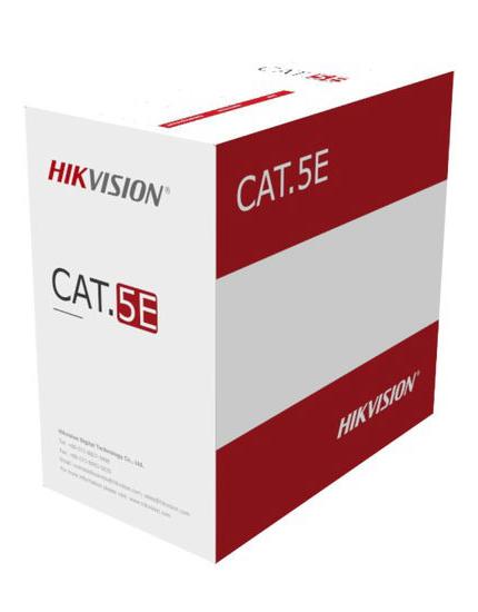 Ryšio kabelis UTP 5E CCA Hikvision DS-1LN5EU-G/CCA (305 metrų ritė)