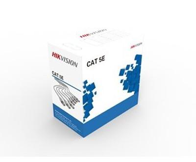 Ryšio kabelis UTP 5E (gysla - 0.45 mm, ritė - 305 m) Hikvision DS-1LN5E-E/E